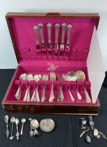 Sterling Silver Flatware and Costume Jewelry Auction Ending April 12th at 9am