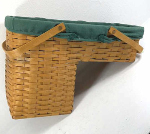 1995 Longaberger Stairstep Basket With Liner