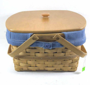 2003 Two Pie Longaberger Basket With Liner,