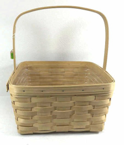 1999 Natural Color Longaberger Cake Basket
