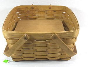 2003 Longaberger Cake Basket With Swing Handles