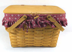 1997 Longaberger Picnic Combo Basket With