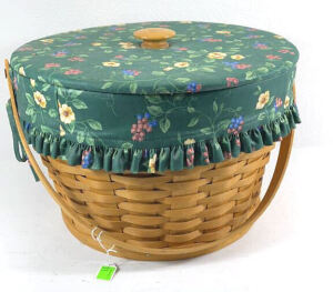 1996 Longaberger Sewing Basket Combo