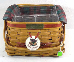 2000 Longaberger Deck The Halls Combo Basket