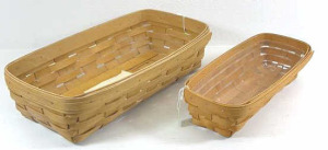 Two Longaberger Baskets1994 Cracker With Protector