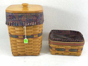 Two Father's Day Baskets- 1995 Waste With Liner