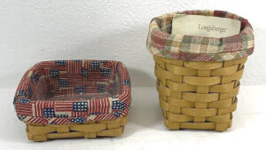 2004 Pencil Basket And A 2003 Stuck On You Baskets