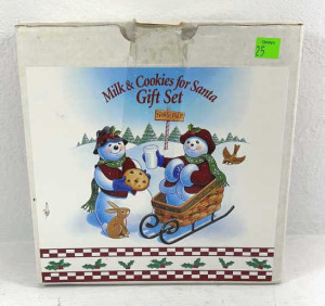 Longaberger Milk And Cookies For Santa Gift Set