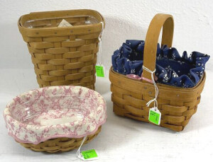 Three Horizon Of Hope Baskets- 1993 Signed Rich &