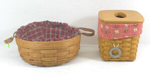 1990 Darning Basket And A 2000 Tall Tissue With