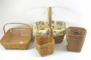 Four Longaberger Baskets- 1995 Small Peg,