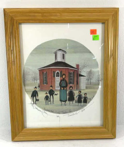 "P. Buckley Moss Signed Print "" Teacher's Pet"""