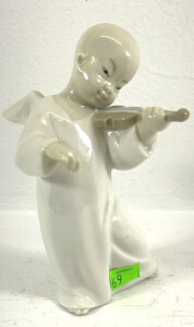 Lladro Figurine Angel Playing The Violin