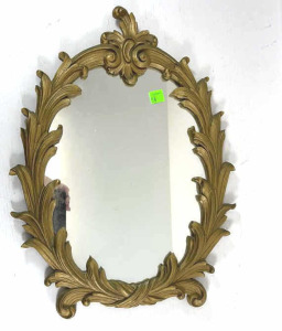"Ornate Dresser Mirror Approx. 15"" X 12"""