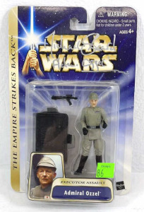 Autographed Star Wars Action Figure Admiral Ozzel