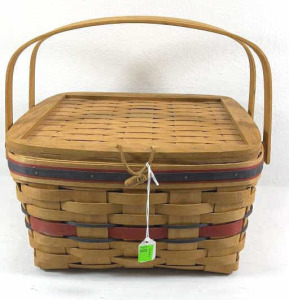 1991 Crisco American Pie Basket With Wooden