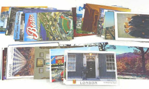 Group Of Travel Postcards Includes London, Boston,