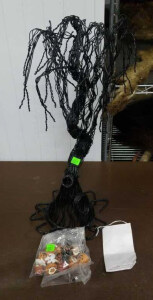 Black Haunted Tree And Halloween Ornaments