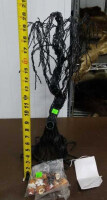 Black Haunted Tree And Halloween Ornaments - 2
