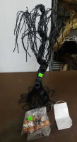 Black Haunted Tree And Halloween Ornaments - 4