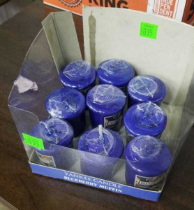 9 Blueberry Muffin Votive Candles