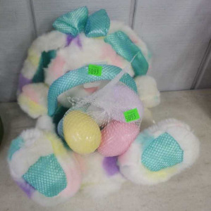 Easter Bunny Basket W/ Easter Eggs