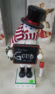 Snowman Nutcracker Chalkboard Music Box