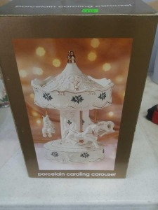 Home Collection Porcelain Caroling Carousel