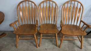 Three Dining Chairs,