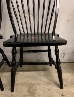 Two Black Dining Spindle Chairs - 2