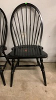 Two Black Dining Spindle Chairs - 3