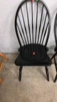 Two Black Dining Spindle Chairs - 5