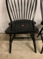 Two Black Dining Spindle Chairs - 6