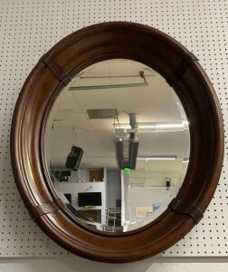 Oval Mirror Sunk In Mirror 31x7x36