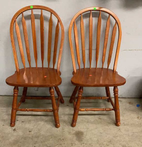 "Two Dining Chairs 17"" Seat Height"