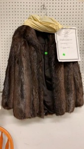 Dark Brown Fur Natural Beaver Fur Jacket,