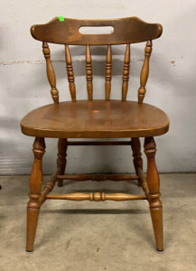 "Wooden Spindle Back Chair 19"" Seat Height"