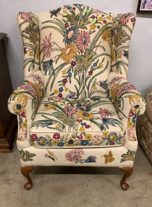 Mast Furniture Crewel Uph Wing Chair