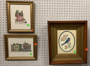 Three Framed Pictures: Two Crosstitched