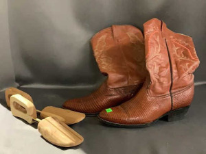Valdez Leather Cowboy Boots