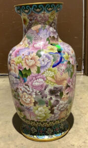26 In Cloisonne Floor Vase