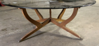 Mid Century Modern Wood Base Brown - 2