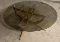 Mid Century Modern Wood Base Brown - 3