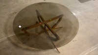 Mid Century Modern Wood Base Brown - 4