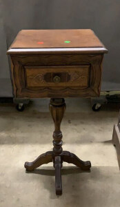 1 Drawer Pedestal Side Table 15x15x31
