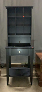 2 Pc-black Cubby 23x9x31 W 1 Drawer End Table