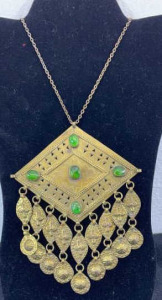 "Large Necklace Marked Iran- Approx. 5"" Width And"