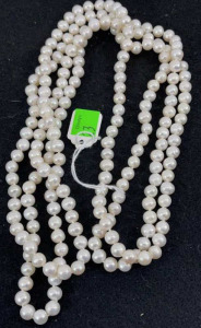 "Long Pearl Necklace- Approx. 35"" Long"