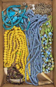 Six Miscellaneous Necklaces - One Yellow Beads,