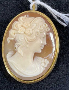 Cameo Marked 750 Pin / Pendant